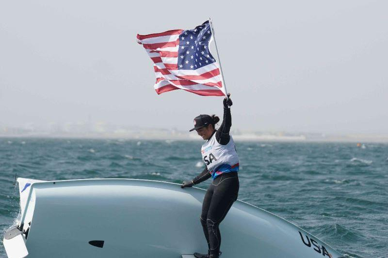 SPT Platinum Athlete, Charlotte Rose, clinched Silver at the Pan American Games in the Laser Radial ©Team USA